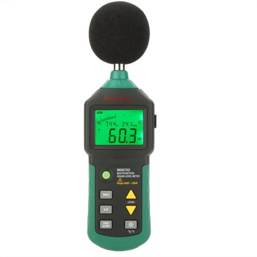 MASTECH MS6702 Digital son indicateur de niveau bruit compteur dB Decible mètre testeur température humidité compteur thermomètre