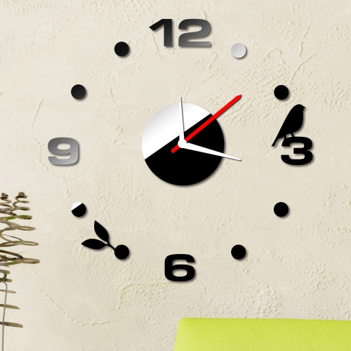 Buy Simple Digits Wall Clock Sticker Set Creative DIY Mirror Effect Acrylic Glass Decal Home Removable Decoration