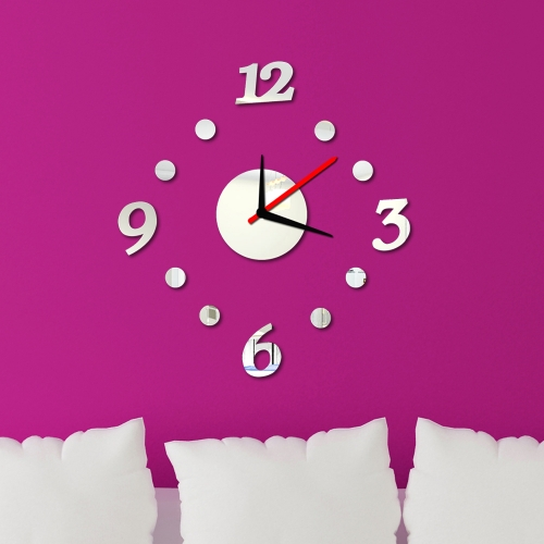 Buy Creative Digits Wall Clock Stickers Set DIY Mirror Effect Acrylic Glass Decal Home Removable Decoration