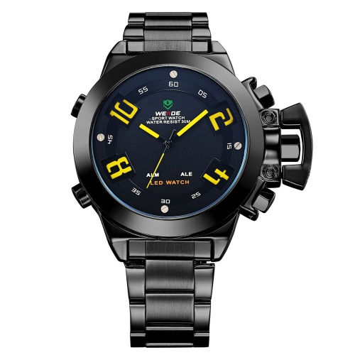 WH1008 Mens Sports Military Multi-function Stainless Steel Analog Digital LED Display Quartz Watch 3ATM Water ResistantBusiness Watches<br>WH1008 Mens Sports Military Multi-function Stainless Steel Analog Digital LED Display Quartz Watch 3ATM Water Resistant<br><br>Blade Length: 27.1cm