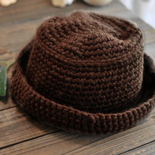 Cute Sweet Women Children Warm Hat Knitted Cap CoffeeHats / Caps<br>Cute Sweet Women Children Warm Hat Knitted Cap Coffee<br><br>Blade Length: 25.0cm