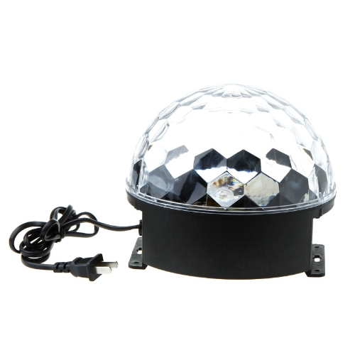 110V Voice-activated LED RGB Crystal Magic Ball Effect Light Disco DJ Stage Lighting