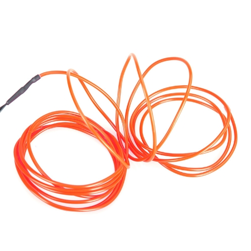 3M Orange Flexible Neon Light EL Wire Rope Tube with Controller от tomtop.com INT