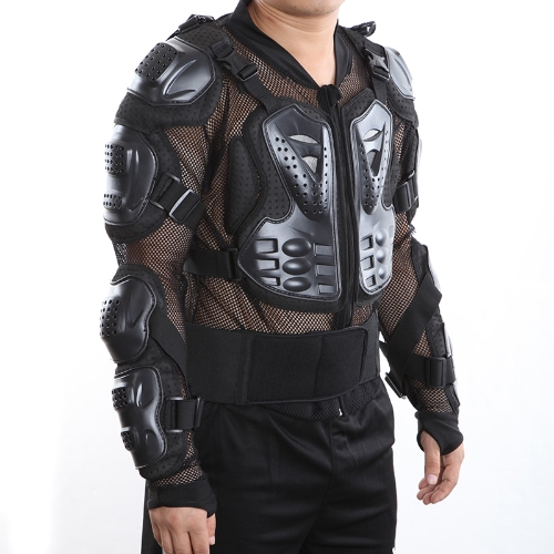 Motorcross Racing Motorcycle Body Armor Protective Jacket Spine Back Gear Cool Sexy Black H9536S