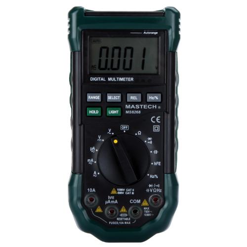 Mastech MS8268 Professional Digital Multimeter Sound&amp;Light Alarm Auto-range Resettable Fuse Capacitance Frequency MeasurementDigital Multimeters<br>Mastech MS8268 Professional Digital Multimeter Sound&amp;Light Alarm Auto-range Resettable Fuse Capacitance Frequency Measurement<br><br>Blade Length: 24.0cm