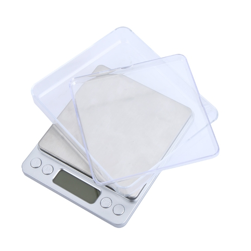 DIY Electronics H9633 High Accuracy Mini Electronic Digital Platform Jewelry Scale Weighing Balance with Two Trays Portable 500g/0.01g Counting Function Blue LCD g/ct/dwt/ozt/oz/gn