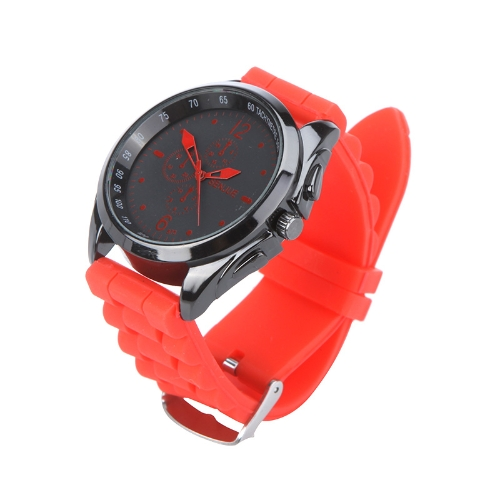 Men Women Stylish Silicone Strap Casual Wrist Watch Unisex RedCasual  Style Watches<br>Men Women Stylish Silicone Strap Casual Wrist Watch Unisex Red<br><br>Blade Length: 0.0cm