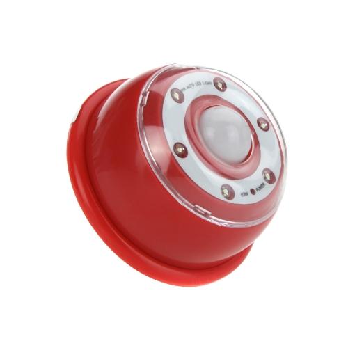 Auto PIR 6-LED Light Lamp Infrared Sensor Motion Detector Red