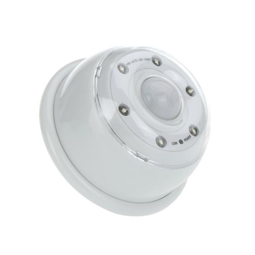 Auto PIR 6-LED Light Lamp Infrared Sensor Motion Detector White