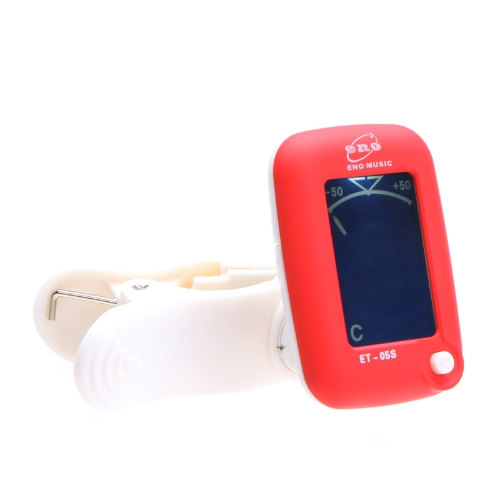Mini LCD Clip-on Digital Tuner for Guitar Chromatic Bass Violin Ukulele Red I177