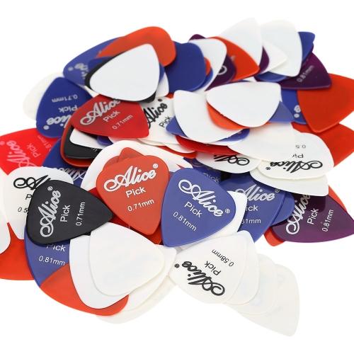 Alice AP-100P 100pcs 0.58mm/0.71mm/0.81mm Guitar Picks Plectrums Smooth ABSAlice<br>Alice AP-100P 100pcs 0.58mm/0.71mm/0.81mm Guitar Picks Plectrums Smooth ABS<br><br>Blade Length: 10.0cm