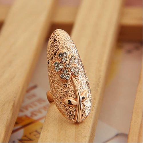 Flowers Leafs Crystal Finger Nail Art Golden Jewelry Ring Fashion CharmingHair Jewelry<br>Flowers Leafs Crystal Finger Nail Art Golden Jewelry Ring Fashion Charming<br><br>Blade Length: 3.0cm
