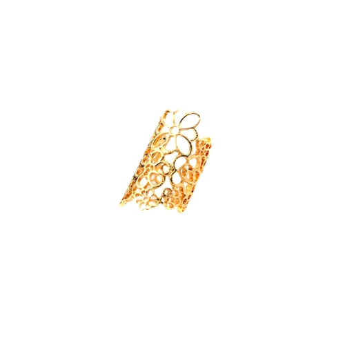 Fashion Design Bohemian Style Golden Hollow Out Flower Ring J0018G