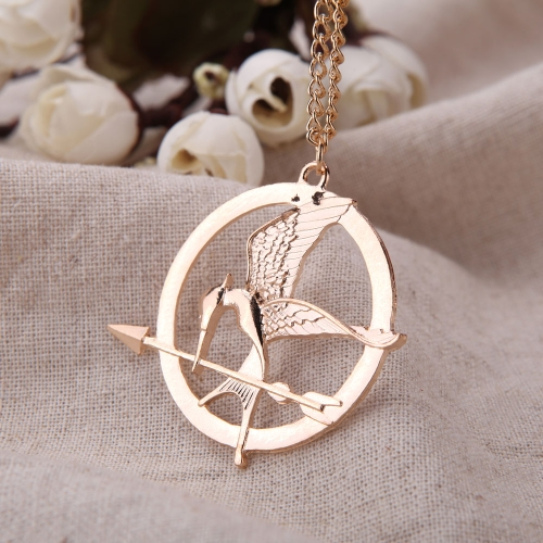 Personalized Vintage Retro Punk Style Hunger Games Bird Pendant Collar Necklace Jewelry AccessoryNecklaces &amp; Pendants<br>Personalized Vintage Retro Punk Style Hunger Games Bird Pendant Collar Necklace Jewelry Accessory<br><br>Blade Length: 6.0cm