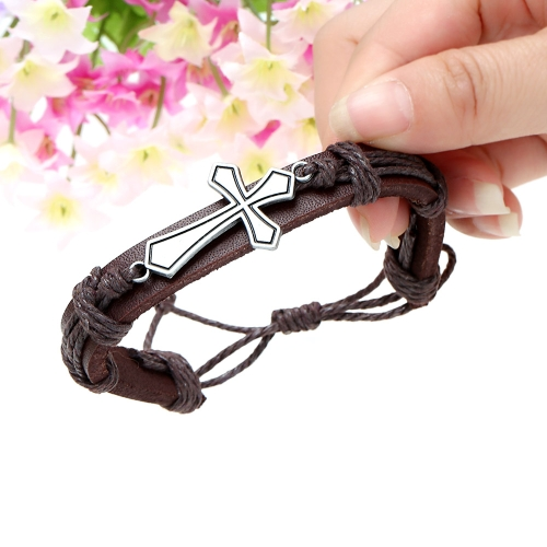Alloy Leather Bracelet Men Women Fashion BangleBracelets &amp; Bangles<br>Alloy Leather Bracelet Men Women Fashion Bangle<br><br>Blade Length: 7.0cm