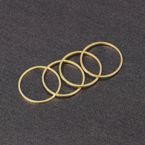 4PCS/Set Rings Urban Gold Stack Plain