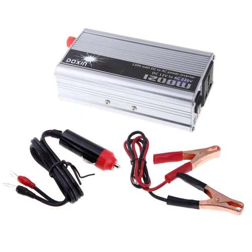 1200W WATT DC 12V to AC 220V Portable Car Power Inverter Charger Converter Transformer от Tomtop.com INT