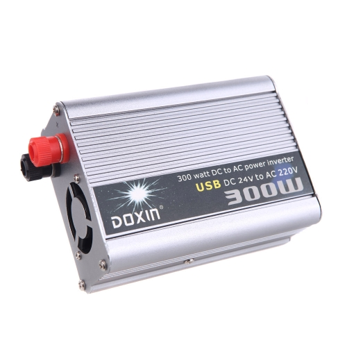 300W Watt DC 24V to AC 220V + USB Portable Voltage Transformer Car Power Inverter от Tomtop.com INT
