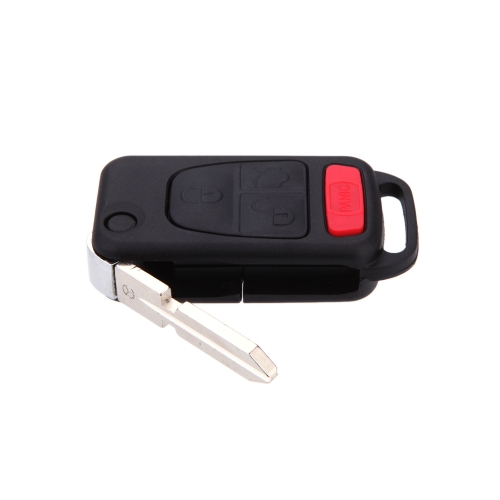 New Replacement Keyless Entry Remote Car Fob Wide Flip Key Shell Case 4Btn for Benz от Tomtop.com INT