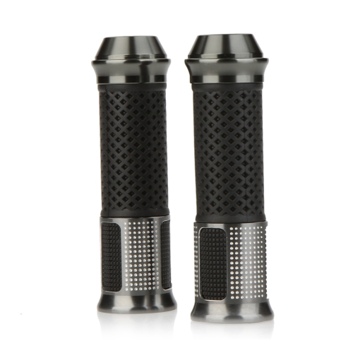 1Pair Ergonomic Handlebar Grips Hand Grips CNC Aluminum Rubber Gel for Motorcycle Sports Bike от Tomtop.com INT
