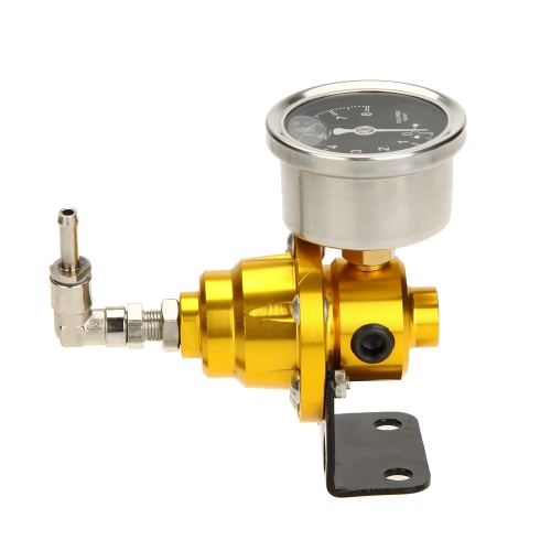 High Performance Adjustable Fuel Pressure Regulator with Filled Oil Gauge for Car Auto от Tomtop.com INT