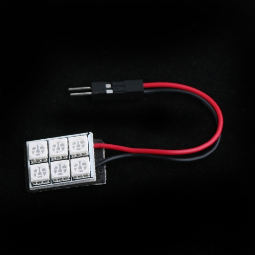 5050 SMD 6 LED Red Dome Bulb Light for Car Interior with 3 Adapters от Tomtop.com INT