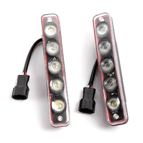 LED Car Daytime Running Light 5 LED White от Tomtop.com INT