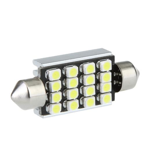 LED Car Light 42mm 16 1210 Canbus WhiteLED Lights<br>LED Car Light 42mm 16 1210 Canbus White<br><br>Blade Length: 0.0cm