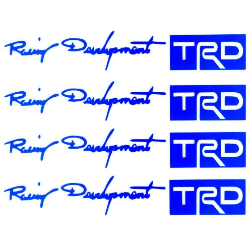Buy TRD Car Stickers Auto Door Knob Handle Decals Reflective Blue