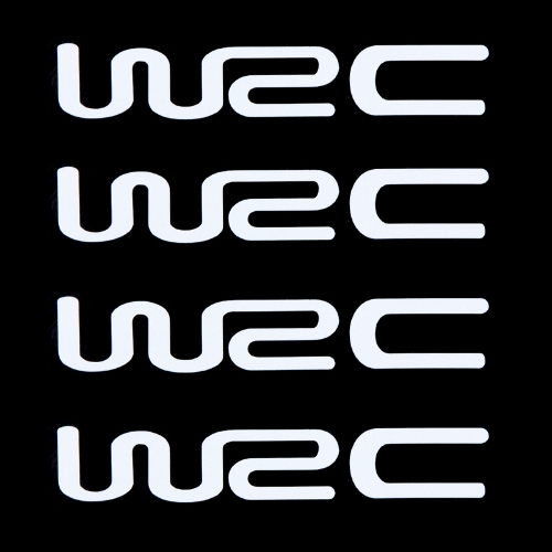 Buy WRC Car Stickers Auto Door Knob Handle Decals Reflective White