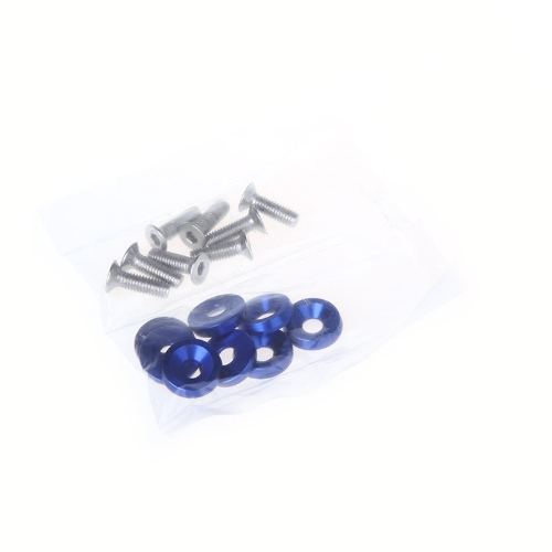 8pcs Bumper Washer & Bolts Kit Set Aluminum Alloy Blue от Tomtop.com INT