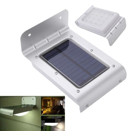 Energia solar corpo humano sensível Motion Sensor 16 LEDs luz casa jardim segurança lâmpada parede resistente à água ao ar livre luzes от tomtop.com INT