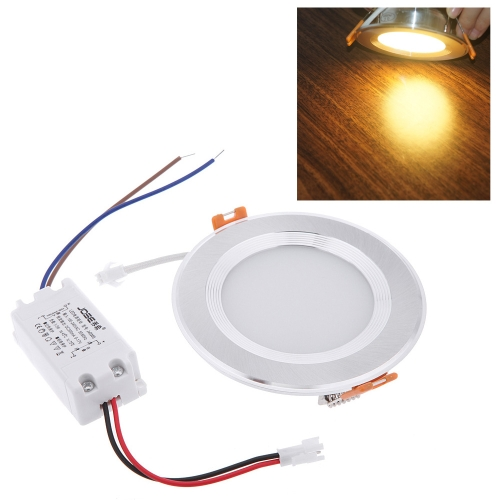 5W Round LED Recessed Ceiling Panel Light Down Lamp Ultra Thin Bright for Living Room Bathroom Bedroom Kitchen AC100-240V от tomtop.com INT
