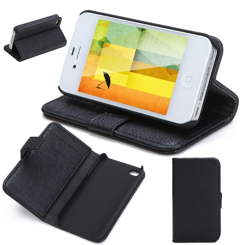 Fashion Wallet Case Flip Leather Stand Cover with Card Holder for iPhone 4 4s 4g BlackApple Accessories<br>Fashion Wallet Case Flip Leather Stand Cover with Card Holder for iPhone 4 4s 4g Black<br><br>Blade Length: 11.7cm