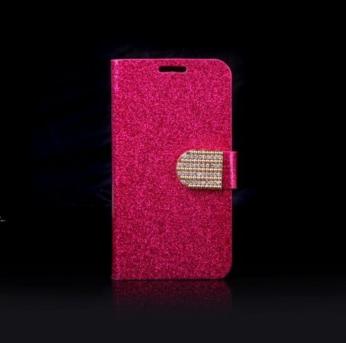 Buy Magnetic Wallet Case Flip Leather Stand Cover Card Holder Samsung Galaxy S5 i9600 Rose