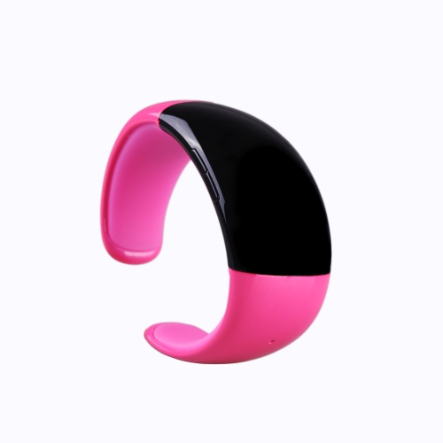 Wireless Bluetooth Bracelet Watch with Microphone Speaker Receive Reject Incoming Call Anti-loss Alarm Multifunctional Fashionable Rose Red