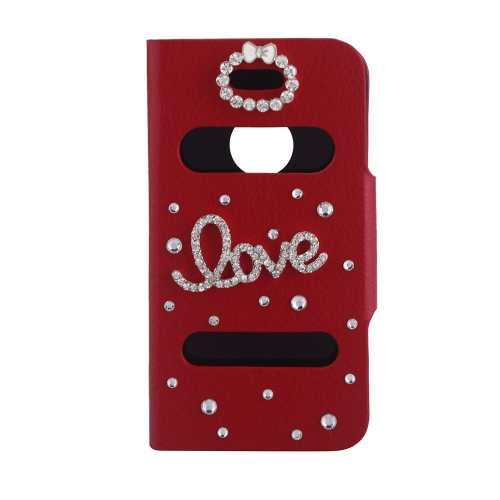 Double View Screen Window Flip Case Cover Bling Diamond Rhinestone Crystal PU Leather for iPhone 4S 4G Stand Magnetic Clip Pure RedApple Accessories<br>Double View Screen Window Flip Case Cover Bling Diamond Rhinestone Crystal PU Leather for iPhone 4S 4G Stand Magnetic Clip Pure Red<br><br>Blade Length: 11.8cm
