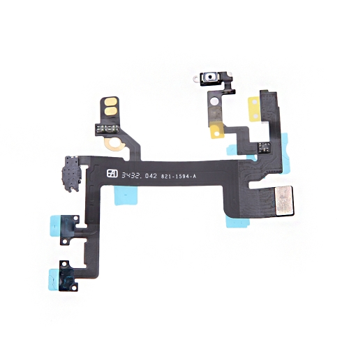 Power Button Switch Sleep Wake Vibration Volume Control Flex Cable Metal Bracket Assembly for iPhone 5S PA2096