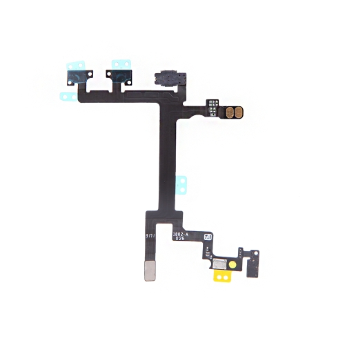 Power Button Switch Sleep Wake Vibration Volume Control Flex Cable Metal Bracket Assembly for iPhone 5 PA2097
