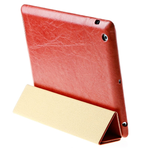 Buy Jisoncase Red Genuine Real Leather Case Cover Stand Apple iPad 2 3