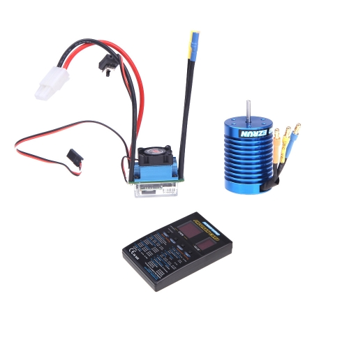 Buy Original Hobbywing EZRUN Brushless System B2 Combo 35A ESC 9T Motor LED Program Box 1/12 & 1/10 scale on-road/off-road sport Car