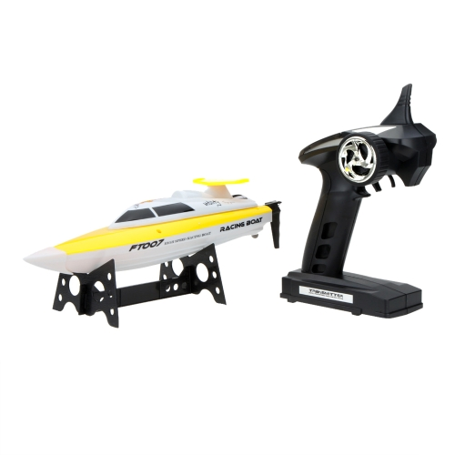 Feilun FT007 4 Channel 2.4G RC Remote Control High Speed Racing Boat Yellow