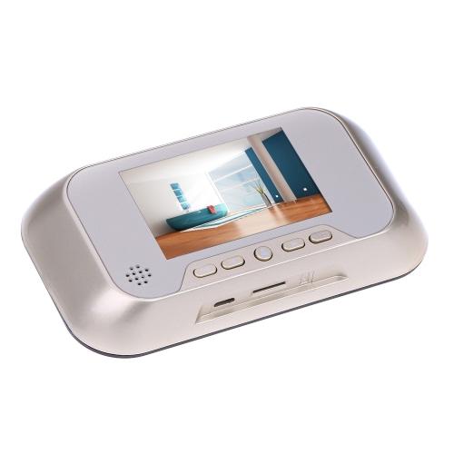 "3.0"" Smart Peephole Viewer Visual Doorbell Night Vision Camera Video Photo Recording 0.3MP S306US"