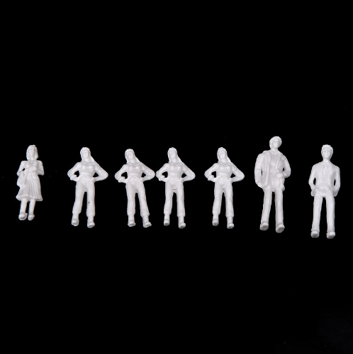 100pcs OO Scale 1:75 White Model People Unpainted Train FiguresTV,Movie &amp; Character Models<br>100pcs OO Scale 1:75 White Model People Unpainted Train Figures<br><br>Blade Length: 7.0cm