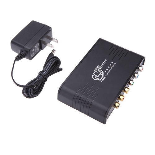 New Portable 1080P HDMI to Component Video (YPbPr) Video converter for HDTV Monitor V1014US