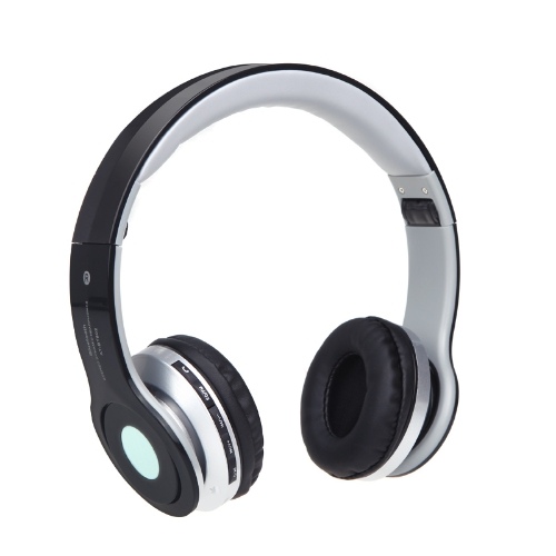 Foldable Wireless Bluetooth Stereo Headphone Headset Mic FM TF Slot for iPhone iPad PC Black