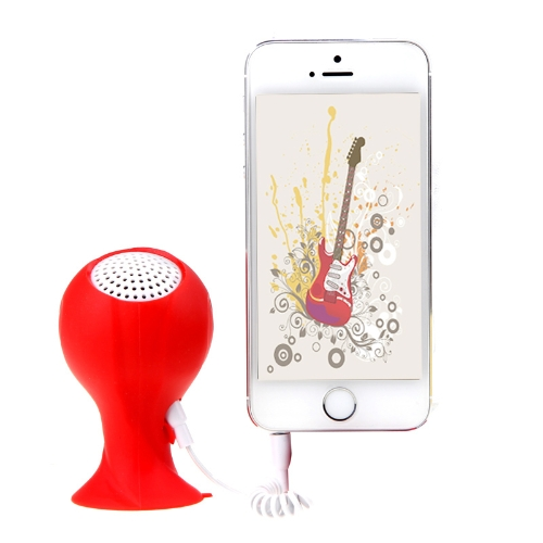Brazil 2014 World Cup Football Speakers Portable with Silicone Sucker Holder Red V654R