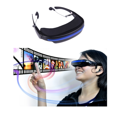 "4GB 52"" 4:3 Virtual Wide Screen Video Glasses Eyewear Mobile Private Theater Digital with Card Slot"