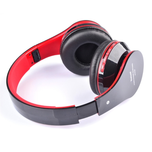 AT-BT809 Foldable Wireless Bluetooth Stereo Headphone Headset Mic FM TF Slot for iPhone iPad Smartphone V755