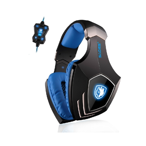 SADES A60 Professional 7.1 Sound USB Vibration Gaming Game Headphone Headset Mic 3 Colors LED